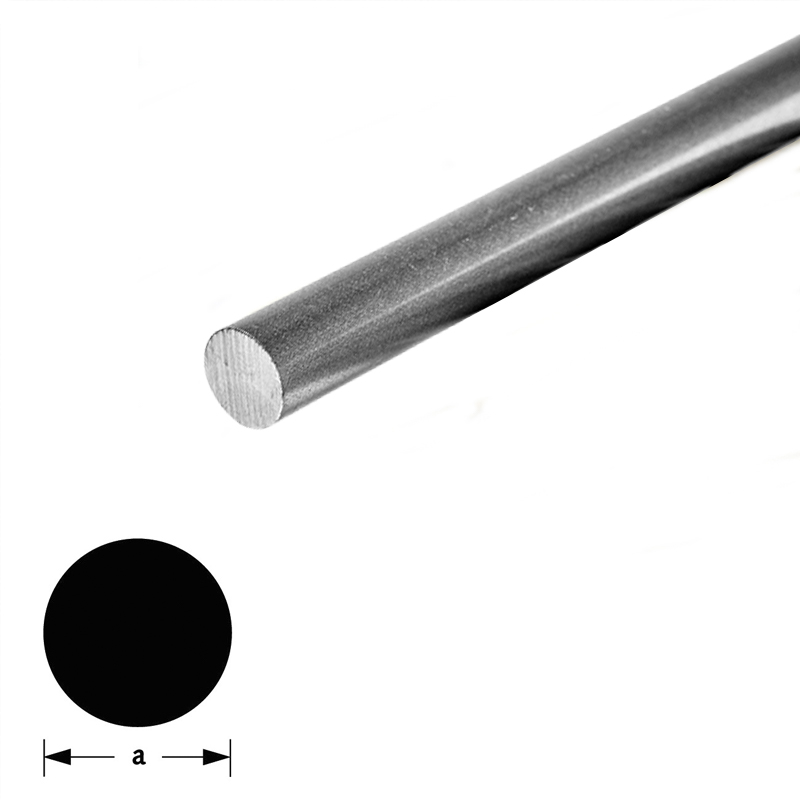 Massief Rond Staal.Massief Rond Staal 4mm 1m